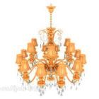 Illuminazione lampadario di cristallo oro