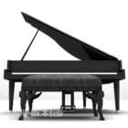 Pianoforte A Coda Con Sedia