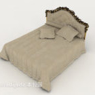 Gray-brown Double Bed