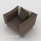 Gray-brown Single Sofa