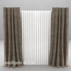 Grå med golv-till-tak gardiner