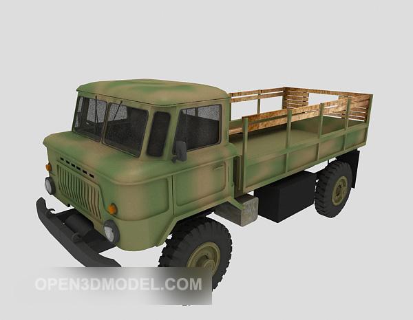 Military Green Pickup Truck