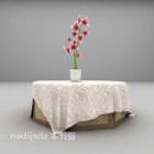 Okrągły stół z tkaniny