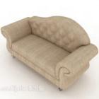 Belakang Unta Sofa Kulit Kelabu