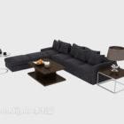 أريكة رمادية متعددة المقاعد