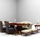 Grey Wood Camel Sofa Table Carpet