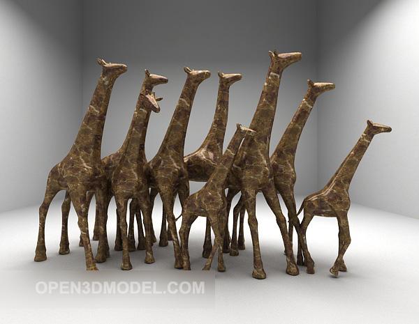 Group Giraffe Sculpture