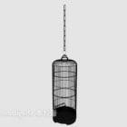Hanging Birdcage Hitam