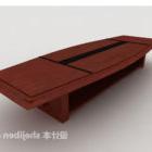 Tavolo da conferenza in legno massello di alta qualità