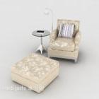 Hjem Brun mønstret enkelt sofa