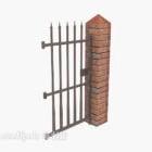 Home Recinzione cancello di ferro