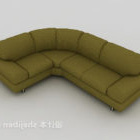 Home Dark-green Simple Sofa