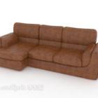 أريكة من الجلد متعددة المقاعد المنزلية