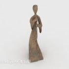 Hiasan Tembikar Figurine Girl