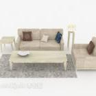 Home Simple Gray-brown Combination Sofa