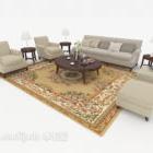 Home Wood Gray-brown Combination Sofa