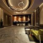 ホテルのホールの部屋の大理石仕上げ