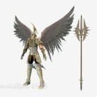 Wing Man Warrior Fighter Character