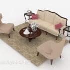 Europejskie eleganckie zestawy sof w stylu vintage