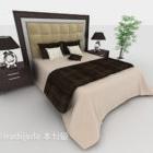 Set completo letto matrimoniale moderno in legno