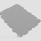 Tappeto in pizzo di colore grigio