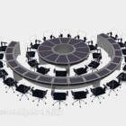 Duży okrągły stół konferencyjny
