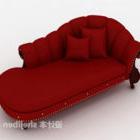 Stor röd prinsesserstol i europeisk stil