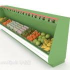 Grande frigorifero del supermercato con la frutta