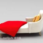 Roter Stoff auf dem Sofa