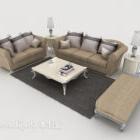 Light-colored Western Sofa Coffee Table