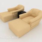 Light-colored Casual Single Sofa Furniture