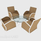 Light-colored Casual Table Chair Set