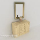 Light-colored Entrance Hall Cabinet