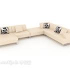 Light-colored Home Set Sofa
