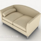 Light-colored Home Double Sofa