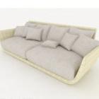Light-colored Home Multi-person Sofa