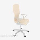 Krzesło biurowe w kolorze beżowym