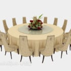 Light-colored Round Table Chair Set