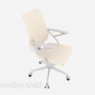 Light-colored Simple Office Chair