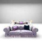 Lit lilas avec meubles de lit de repos