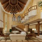 Mediterranes Wohnzimmer Design Interieur