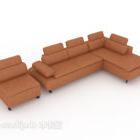 Sofa brązowa skórzana do salonu