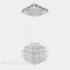 Pitkä kattokruunu timantteja pudota tyyli