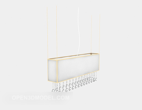 Modern White Chandelier Line Shaped Free 3d Model Max Open3dmodel 528853