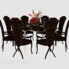 Luxury Exquisite Dining Table Chair