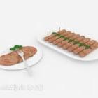 Decorazione Fetta Di Carne