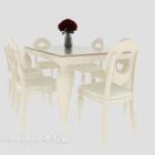 Středomořský jídelní stůl bílá barva
