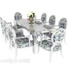 Mediterraner Tisch und Tischstuhl
