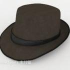قبعة قماش رجالي بني داكن