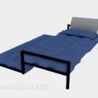 سرير مفرد من مادة معدنية مع سرير نهاري